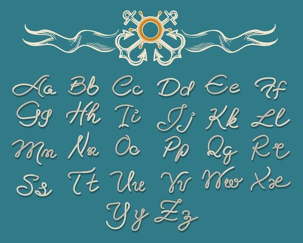 Fuente de letras de cuerda de hilo