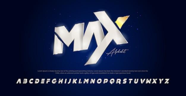 Fuente moderna del alfabeto cursiva deportiva. fuentes tipográficas estilo urbano