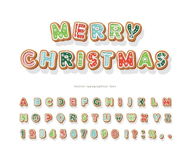 Fuente de navidad gingerbread cookie.