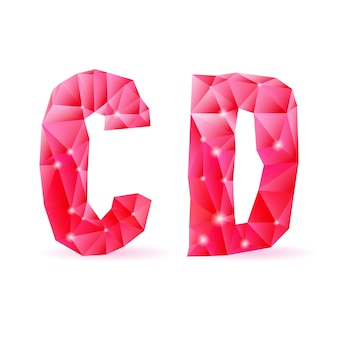 Fuente poligonal ruby