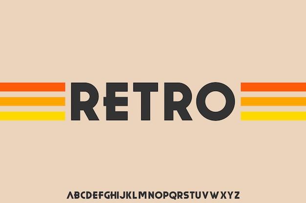 Fuente retro alfabeto tipo de letra