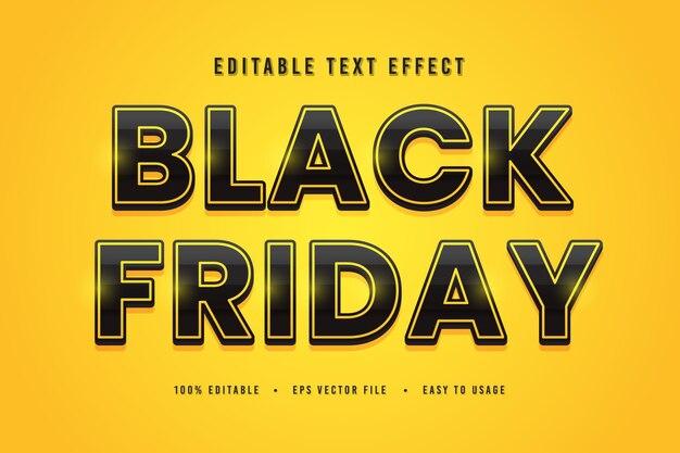Fuente de texto decorativo de viernes negro y alfabeto