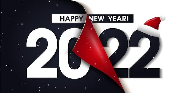 Fuente de texto de tipografía 2022 en colores de estilo geométrico sobre fondo negro,