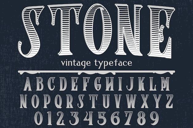 Fuente tipografía artesanal llamada piedra de café.