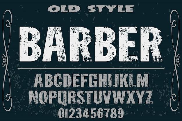 Fuente vintage alfabeto de escritura de vector artesanal