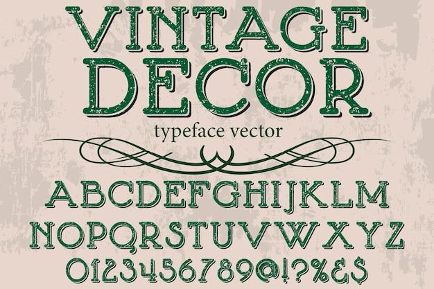 Fuente vintage alfabeto estilo gráfico decoración