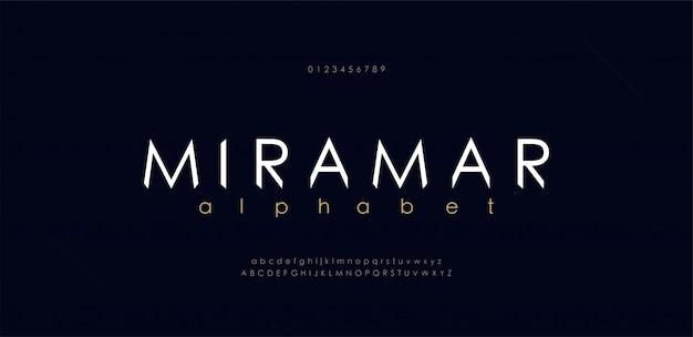 Fuentes abstractas del alfabeto urbano moderno.