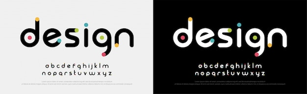 Fuentes de alfabeto moderno creativo de fuente futura