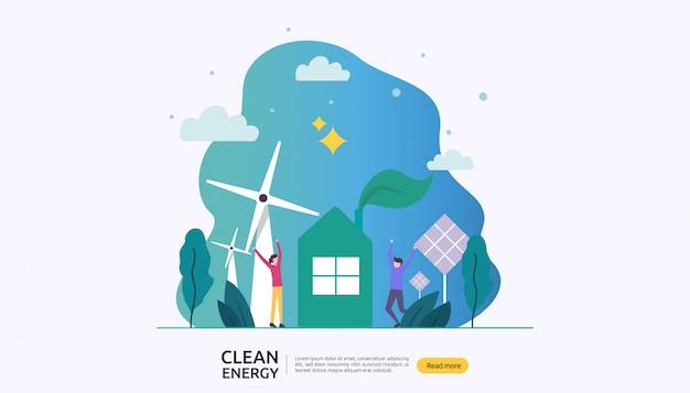 Fuentes de energía eléctrica verde renovables y concepto de medio ambiente limpio.