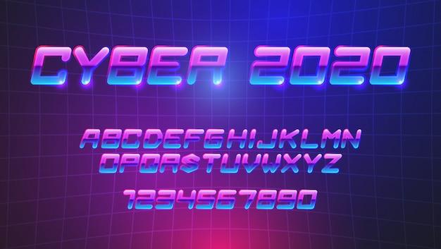 Fuentes futuristas de cyberpunk