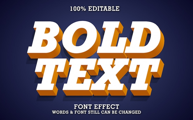 Fuerte efecto de texto en 3d en negrita