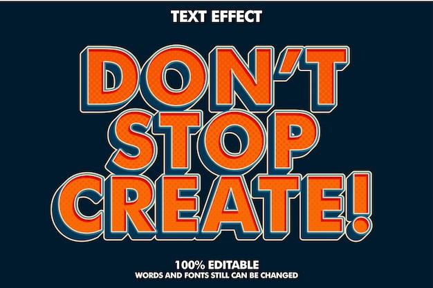 Fuerte efecto de texto retro pop art para estilo antiguo