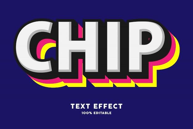 Fuerte efecto de texto a todo color