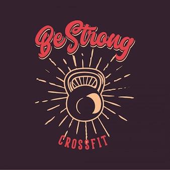 Sé fuerte poster
