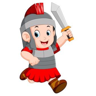 Fuerte soldado del imperio romano