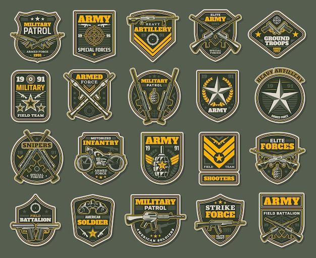 Fuerzas especiales del ejército, insignia de especialistas militares