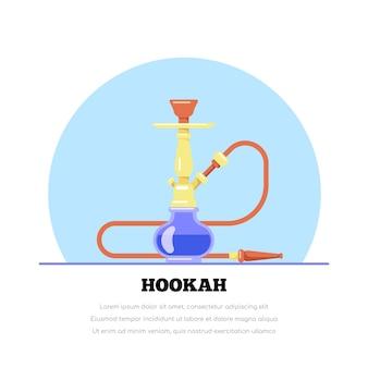 Fumar cachimba en la ilustración de estilo plano