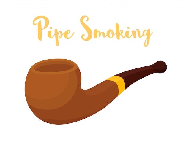 Fumar pipa, dispositivo de madera para fumar.