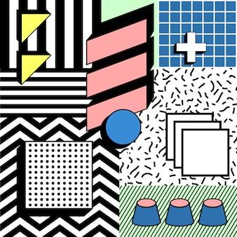 Fun block colorful geometric stylish background