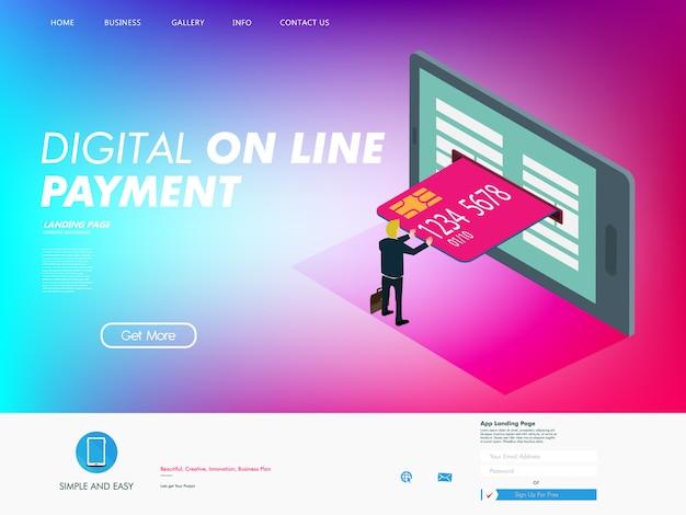 Función de tarjeta de crédito en la era digital.