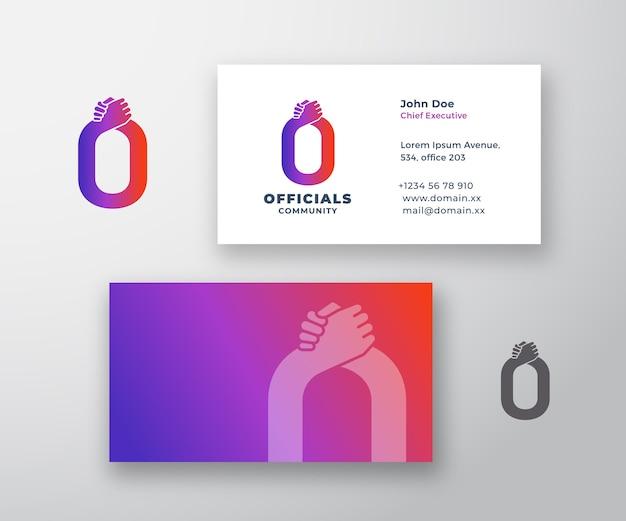 Funcionarios resumen logotipo y tarjeta de visita