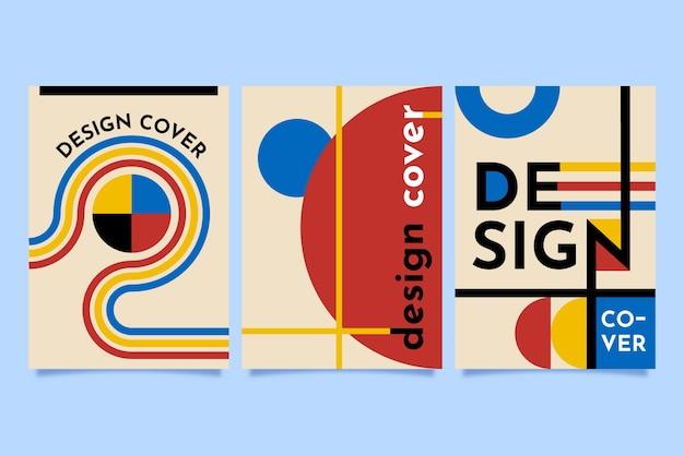 Funda de diseño gráfico en la colección de estilo bauhaus