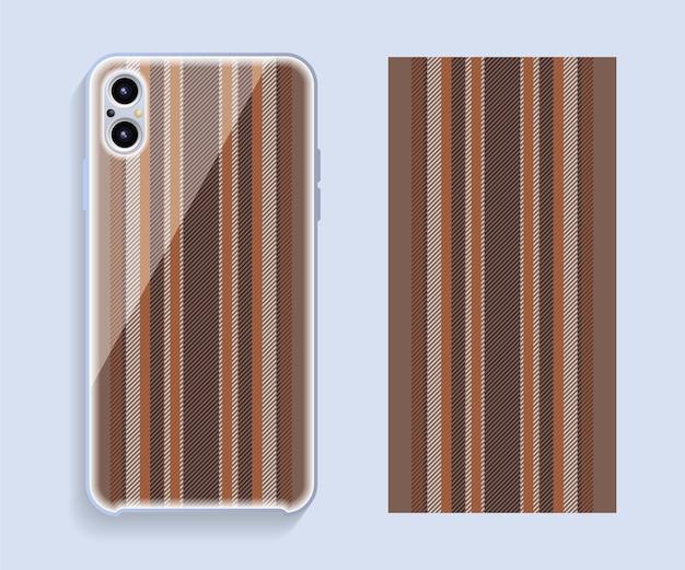 Funda para teléfono móvil. patrón de caja de teléfono inteligente de plantilla.