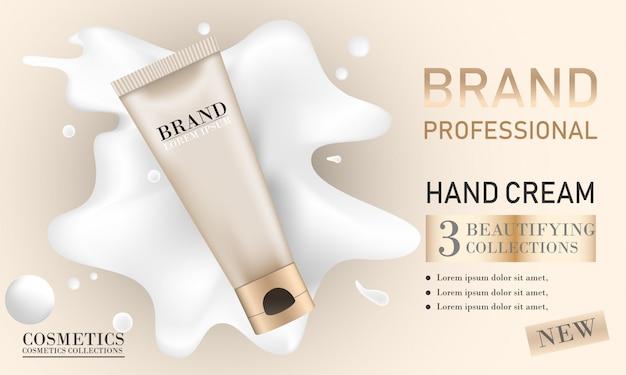 Fundación de anuncios de maquillaje.