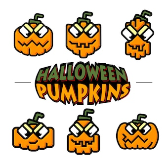 Funky halloween pumpkins