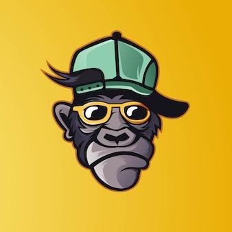 Funky monkey mascot logo design esport team