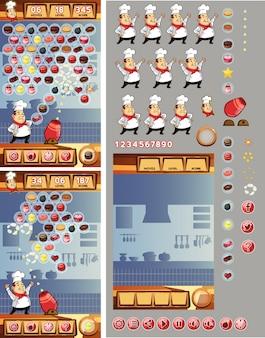 Funny chef ball shooting juego de diseño a juego