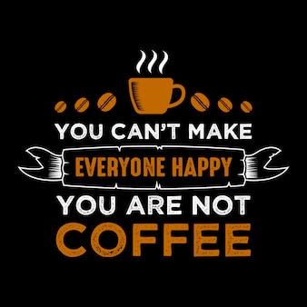 Funny coffee quote y diciendo
