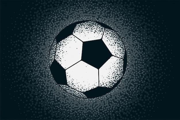 Fútbol creativo hecho con puntos punteados