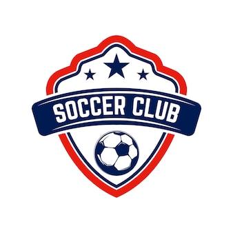 Fútbol, emblemas de fútbol. elemento de diseño de logotipo, etiqueta, emblema, signo.