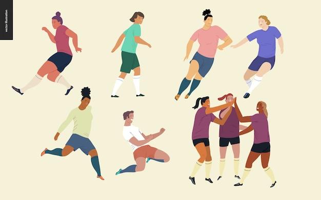 Fútbol europeo, conjunto de jugadores de fútbol
