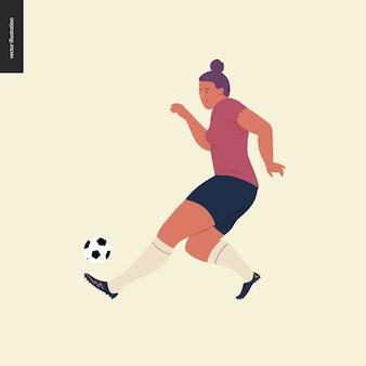 Fútbol europeo femenino, futbolista.