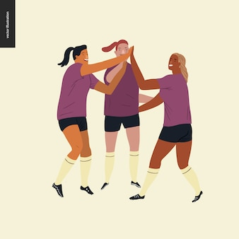 Fútbol europeo femenino, futbolistas.