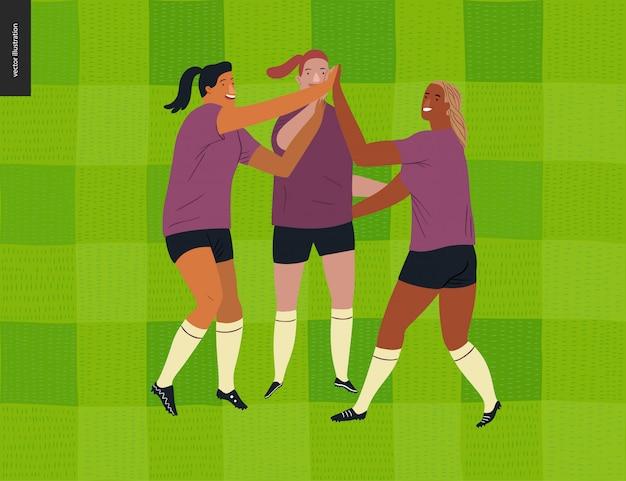 Fútbol europeo femenino, jugador de fútbol