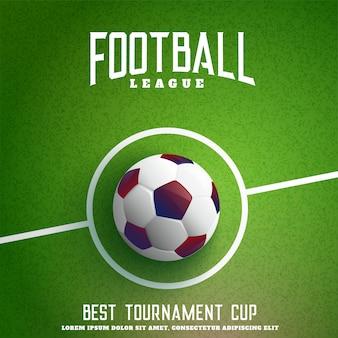 Fútbol en el fondo de hierba verde