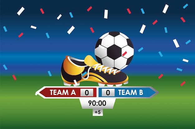 Fútbol fútbol deporte con globo