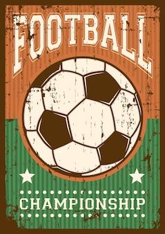 Fútbol fútbol deporte retro pop art cartel señalización