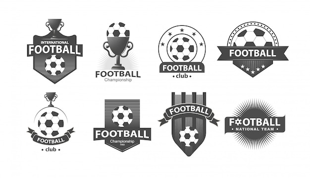 Fútbol fútbol insignia logotipos e insignias