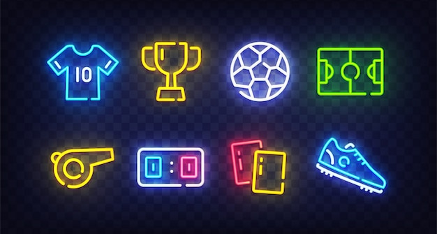 Fútbol neon sing