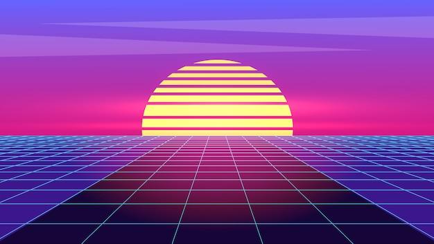 Futurismo retro. sintetizador futurista onda retro.
