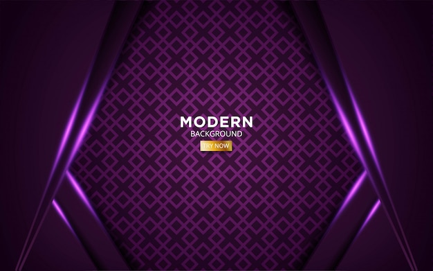 Futuro abstracto moderno fondo púrpura con línea de luz púrpura en geométrica.