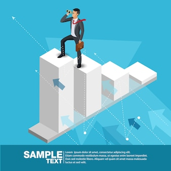 Futuro líder empresarial concept finance manager business man