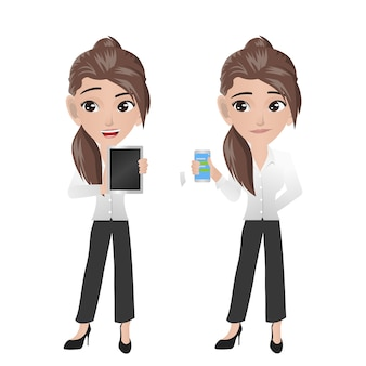 Gadget de explotación de mujer de negocios