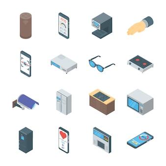 Gadgets inteligentes vectores iconos