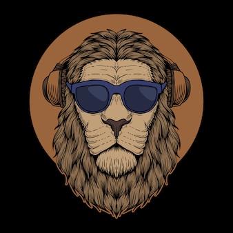 Gafas de cabeza de león