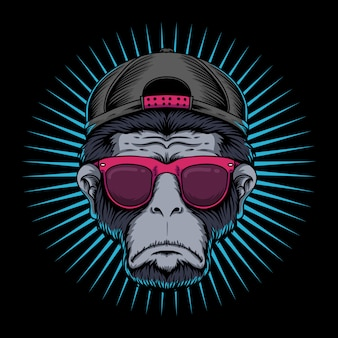 Gafas de cabeza de mono